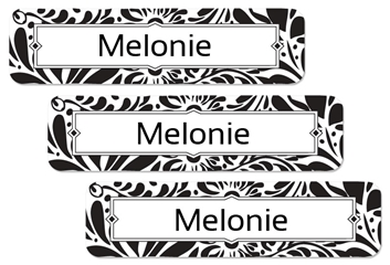Filigree (black) Large Labels