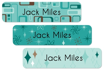 Retro (aqua) Large Labels