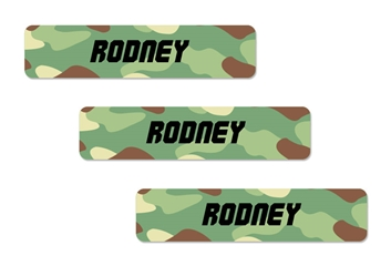 Camo green - Classic Kids Labels