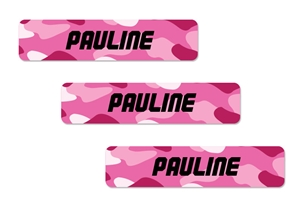 Camo pinks - Classic Kids Labels