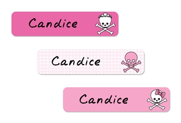 Skulls Hearts (pinks) Classic Labels