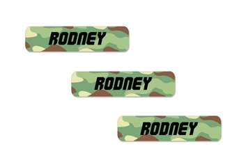 Camo (green mix) Slim Labels