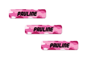 Camo (pinks) Slim Labels