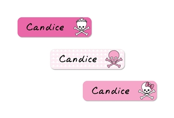 Skulls Hearts (pinks) Slim Labels