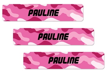Camo pinks - XLarge Labels
