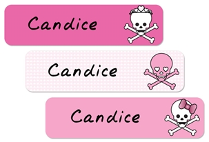 Skulls Hearts (pinks) Large Labels