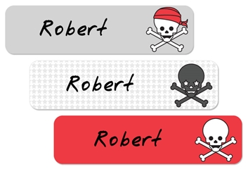 Skulls Pirates (cherry) Large Labels