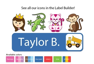 Colortime Large Name Labels