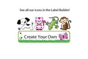 Grassy Scene Popular Kids Labels
