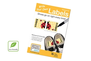 Ladybug Shoe Labels - Write Your Own >>