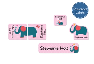 Parade Love Elephant Preschool Labels Pack