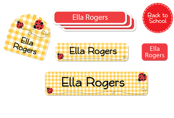 Ladybugs - Deluxe School Labels Pack