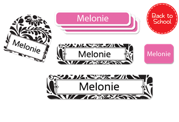 Filigree black - Deluxe School Labels Pack