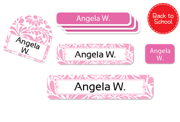 Filigree posie - Deluxe School Labels Pack