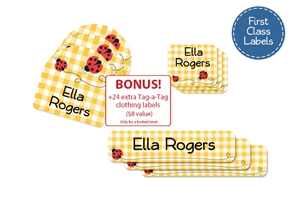Ladybugs First Class School Labels