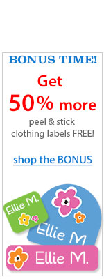 School labels on sale - Free labels, free shipping