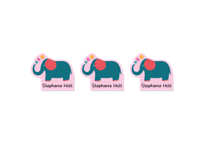 Parade Love Elephant - Fun Shapes Labels
