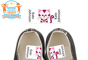 Tiggie Pink - Preschool Shoe Labels