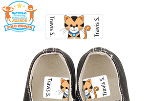 Tiggie Orange - Preschool Shoe Labels