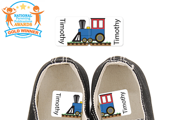 Train Engine - Preschool Shoe Labels