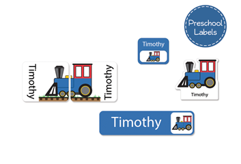 Train Preschool Labels Pack