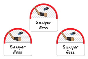 Hockey Net Shoe Labels