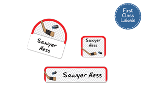 Hockey Net - First Class School Labels