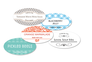 Oval Fabric Canning Labels