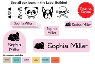 Hipster Deluxe School Labels Pack - Kids Play