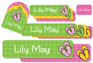 Flip Flops (bright) Camp Labels