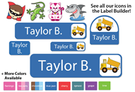 Colortime Camp Labels - Kids Play Collection