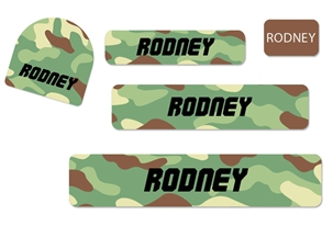 Camo (green mix) Camp Labels