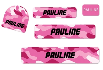 Camo (pinks) Camp Labels