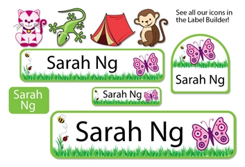 Grassy Scene Camp Labels - Kids Play Collection