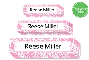 Filigree (posie) Welcome Baby Labels