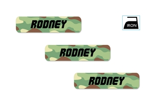 Camo (green mix) Iron-on Clothing Labels