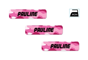 Camo pinks - Iron-on Clothing Labels