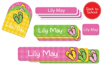 Flip Flops - Deluxe School Labels Pack