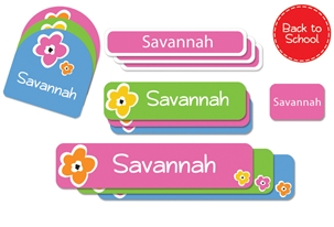 Bloomin (bright) Back to School Labels