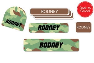 Camo (green mix) Back to School Labels