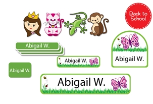 Grassy Scene Back to School Labels - Kids Play
