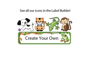 Jungle Scene Popular Kids Labels