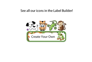 Jungle Scene Slim Name Labels