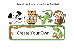 Jungle Scene Large Name Labels