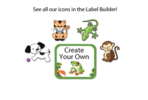 Jungle Scene Tag-a-Tag Clothing Labels