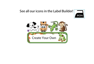 Jungle Scene Iron-on Clothing Labels