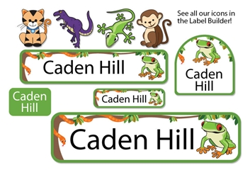 Jungle Scene Camp Labels - Kids Play Collection