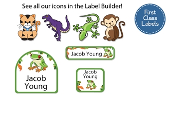 Jungle Scene - First Class School Labels