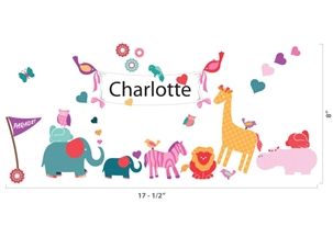 Parade Love (pinks) - Wall Stickers & Door Plaques