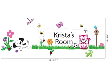 Grassy Scene - Wall Stickers & Door Plaques